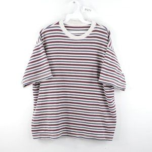 Vintage Multi-Color Striped Short Sleeve T-Shirt